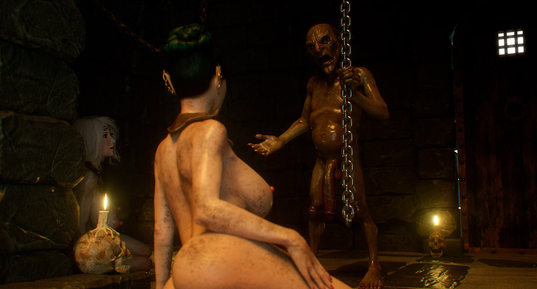 Nasty dwarf with a huge cock - Elf slave 4 Cross Fate by Jared999d