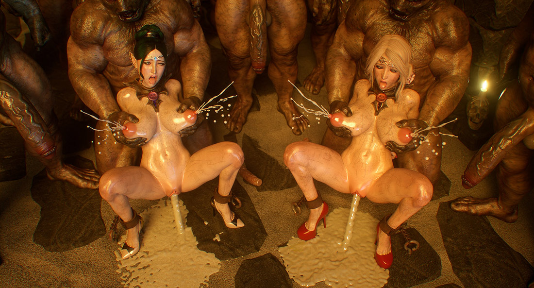 Gangbang in a terrible dungeon - Elf slave 4 Cross Fate by Jared999d