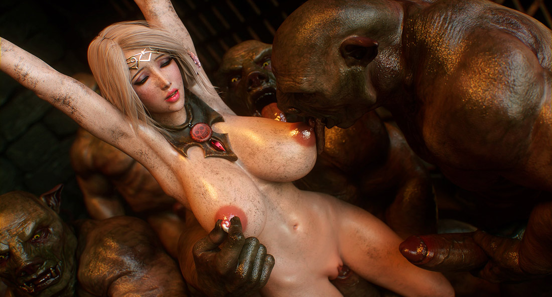 Dirty monsters enjoy beauties - Elf slave 4 Cross Fate by Jared999d