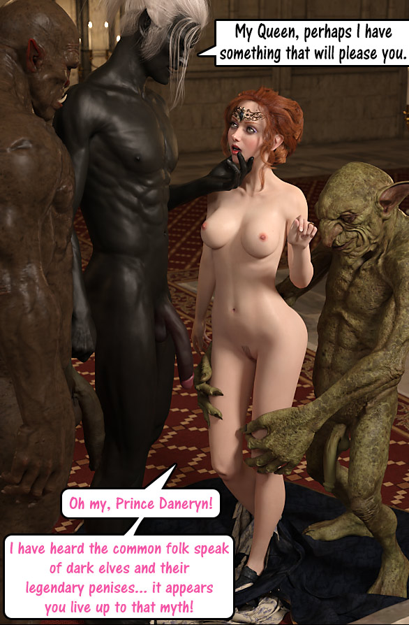 Choke on dat big orc dick - One shot 3 Queen Tessa by Dark Lord