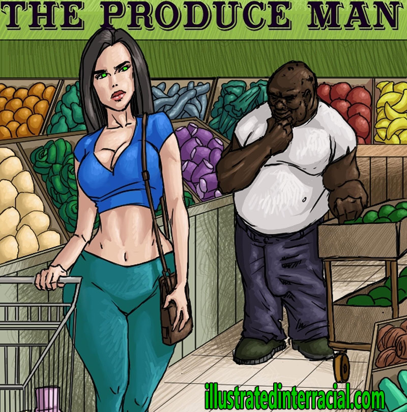 I would love to see a big cock take her tight pussy - The produce man