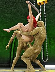 Miriam, Bru, Mullin: Double penetration of insatiable monsters