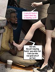 Christian knockers: Fuckin' sexy white foot